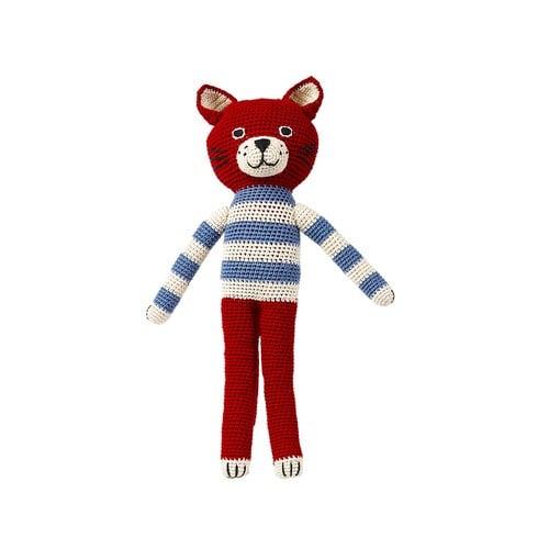 荷蘭ACP 條紋襯衫紅色貓咪玩偶