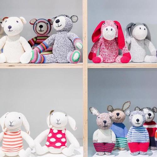 荷蘭ACP 條紋襪泰迪熊玩偶