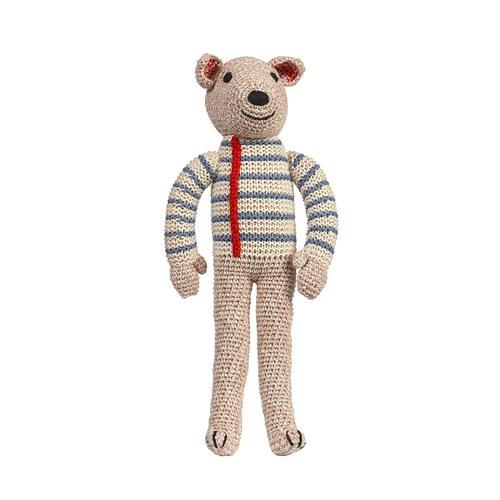 荷蘭ACP 藍白條紋衣小熊玩偶