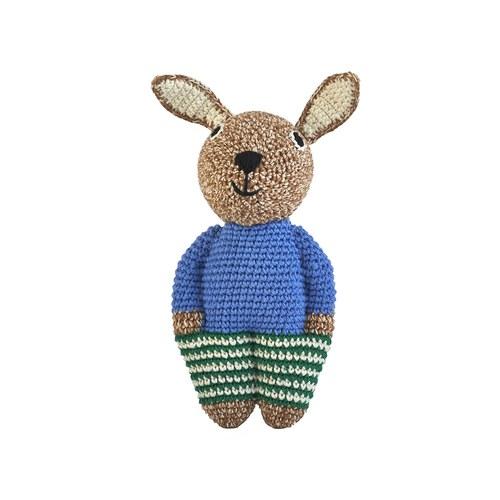 荷蘭ACP 藍色毛衣邦尼兔玩偶