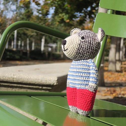 荷蘭ACP 藍白毛衣寶貝熊玩偶