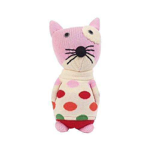 荷蘭ACP 點點毛衣小花貓玩偶
