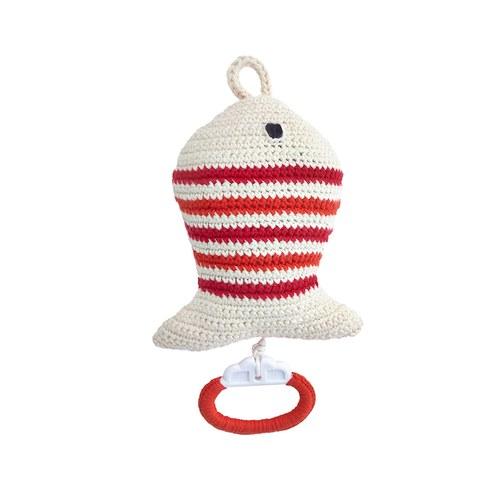 荷蘭ACP 紅白條紋小魚音樂鈴