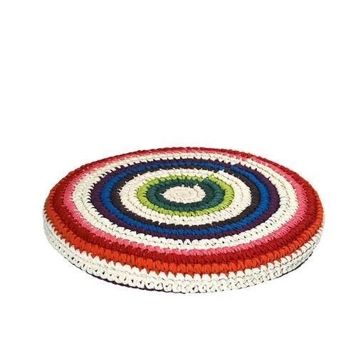 荷蘭ACP 彩虹圓形編織坐墊