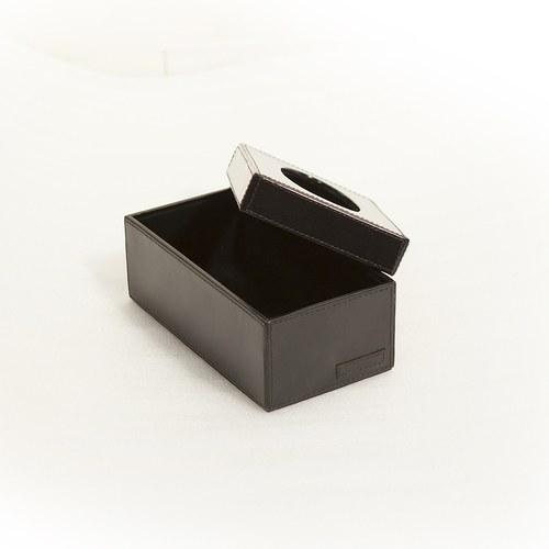 芬蘭Balmuir皮革家飾 紙巾盒 (黑)