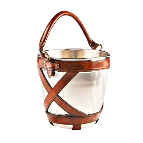 芬蘭Balmuir皮革家飾 交叉編織香檳冰桶 (琥珀)
