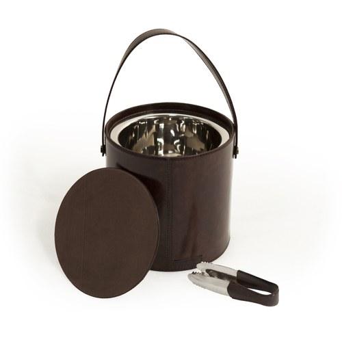 芬蘭Balmuir皮革家飾 附蓋冰塊桶 (深咖啡)
