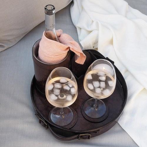 芬蘭Balmuir皮革家飾 冰酒器 (深咖啡)