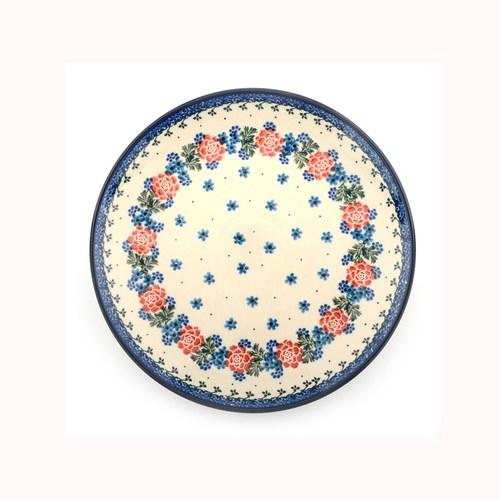 荷蘭BunzlauCastle 花圈圖紋陶盤 (直徑20公分)