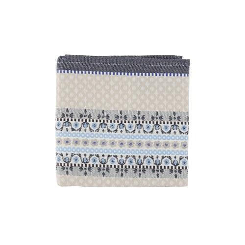 荷蘭BunzlauCastle 藍白地中海圖紋茶巾 (棕)