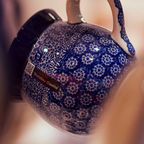 荷蘭BunzlauCastle 古典蕾絲圖紋農夫馬克杯