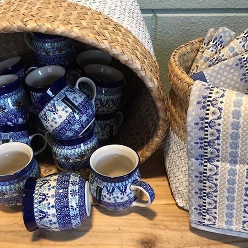荷蘭BunzlauCastle 地中海風格圖紋農夫杯