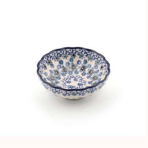 荷蘭BunzlauCastle 冬季花園圖紋波浪型陶碗