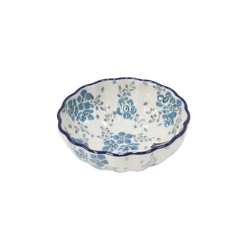 荷蘭BunzlauCastle 霜花圖紋波浪型陶碗