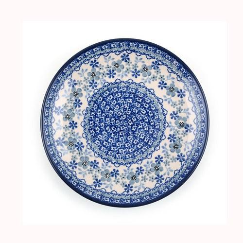 荷蘭BunzlauCastle 東方青花瓷圖紋陶盤 (直徑20公分)