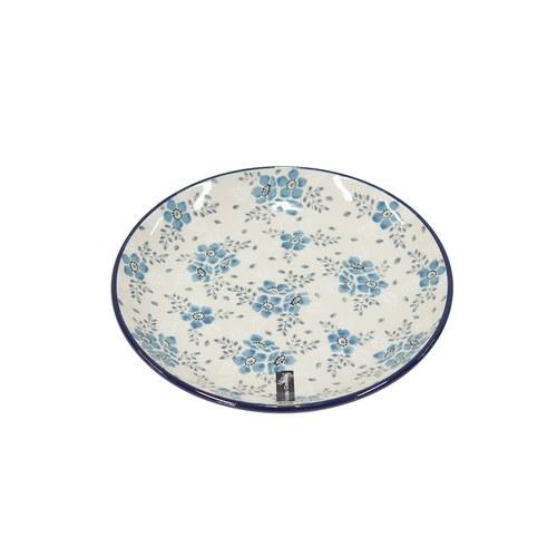 荷蘭BunzlauCastle 霜花圖紋陶盤 (直徑20公分)