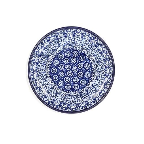 荷蘭BunzlauCastle 古典蕾絲圖紋蛋糕盤 (直徑16公分)