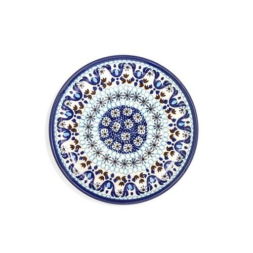 荷蘭BunzlauCastle 藍白地中海圖紋蛋糕盤 (直徑16公分)