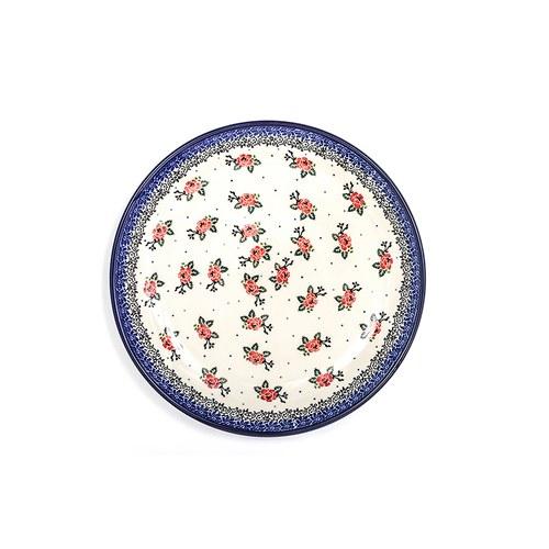 荷蘭BunzlauCastle 經典玫瑰圖紋陶盤 (直徑23.5公分)
