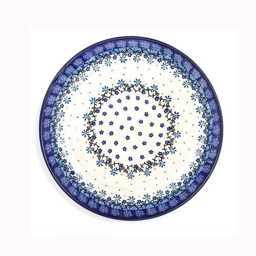荷蘭BunzlauCastle 水仙花圈圖紋陶盤 (直徑23.5公分)