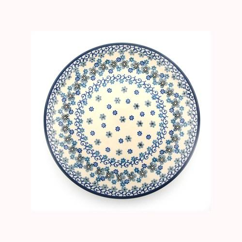 荷蘭BunzlauCastle 冬季花園圖紋陶盤 (直徑23.5公分)