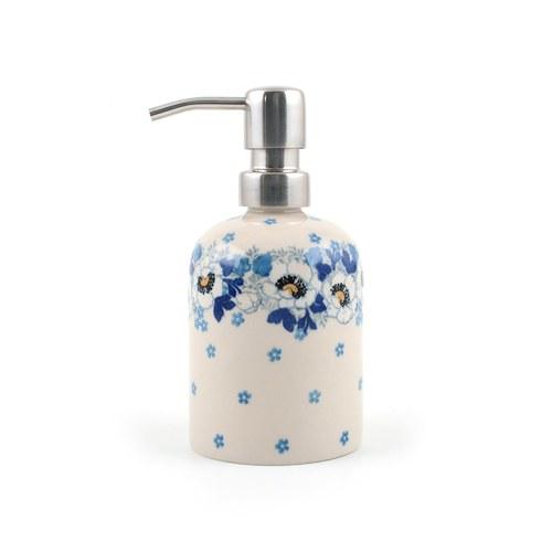 荷蘭BunzlauCastle 優雅白花圖紋沐浴乳罐