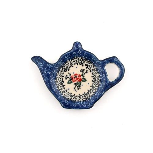 荷蘭BunzlauCastle 經典玫瑰圖紋茶壺造型碟