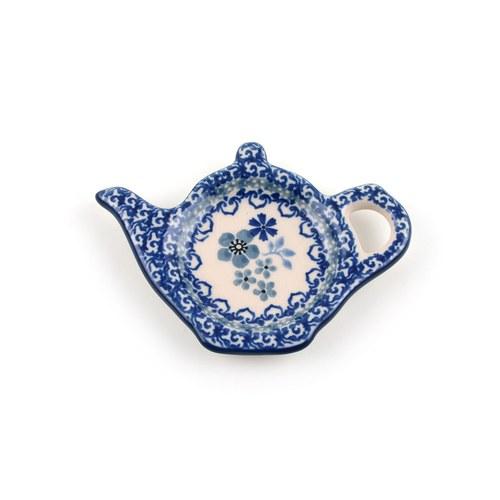 荷蘭BunzlauCastle 東方青花瓷圖紋茶壺造型碟