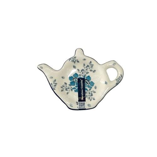 荷蘭BunzlauCastle 霜花圖紋茶壺造型碟