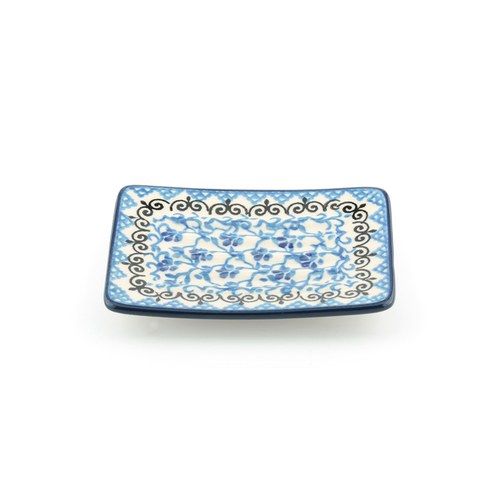 荷蘭BunzlauCastle 紫羅蘭圖紋肥皂盤