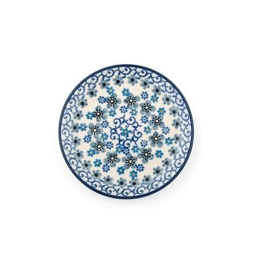 荷蘭BunzlauCastle 冬季花園圖紋蛋糕盤 (直徑12.3公分)