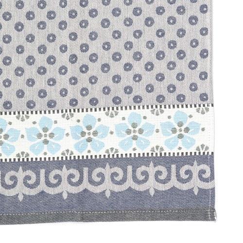 荷蘭BunzlauCastle 紫羅蘭圖紋茶巾 (藍)