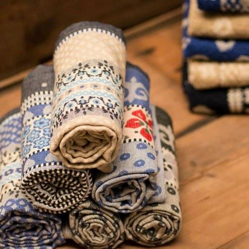 荷蘭BunzlauCastle 藍白地中海圖紋茶巾 (藍)