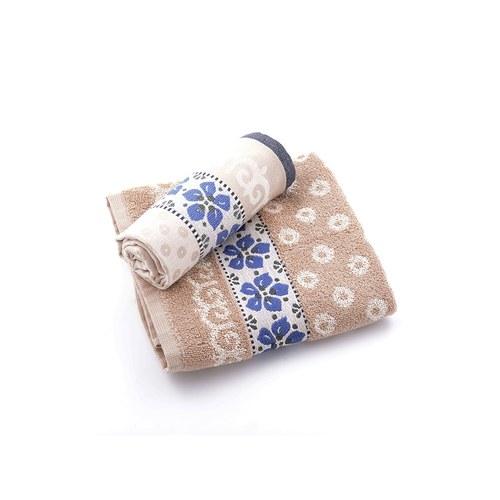 荷蘭BunzlauCastle 紫羅蘭圖紋茶巾 (棕)