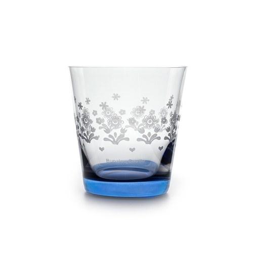 荷蘭BunzlauCastle 藍白地中海圖紋玻璃杯(藍)