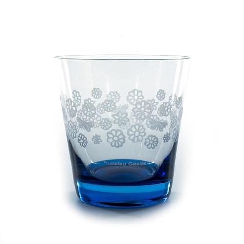荷蘭BunzlauCastle 古典蕾絲圖紋玻璃杯(藍)