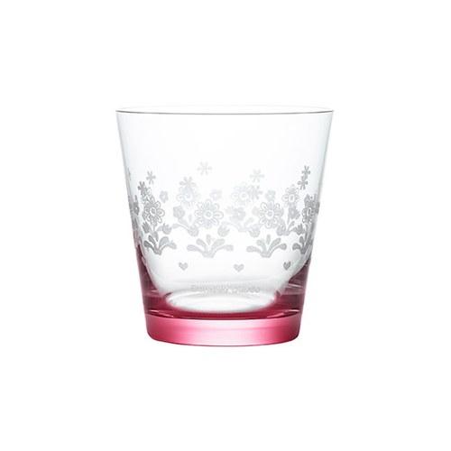 荷蘭BunzlauCastle 藍白地中海圖紋玻璃杯(紅)