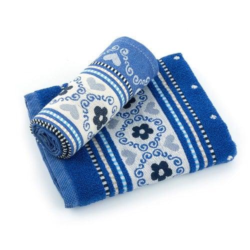 荷蘭BunzlauCastle 古典蕾絲圖紋茶巾 (藍)