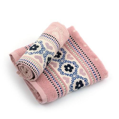 荷蘭BunzlauCastle 花瓣歐蕾圖紋茶巾 (粉)