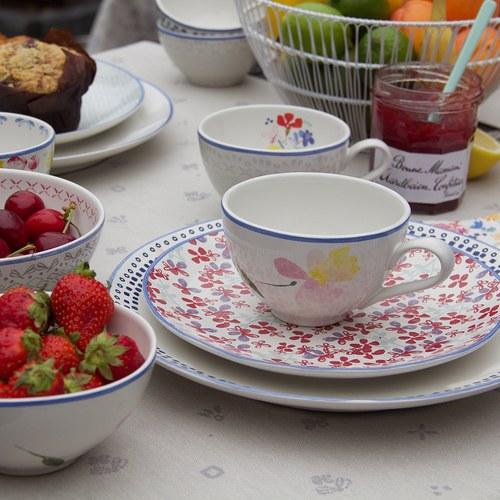 荷蘭FloraCastle 粉晶色飄香花圖紋咖啡杯 (310毫升)