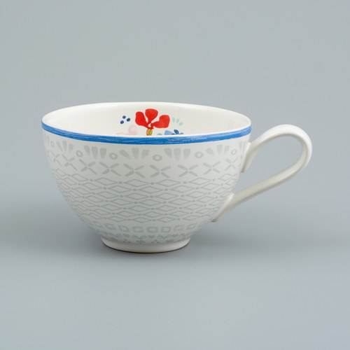 荷蘭FloraCastle 淡雅民族風圖紋咖啡杯 (310毫升)