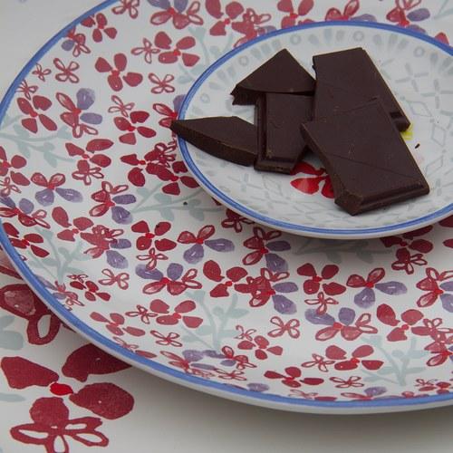 荷蘭FloraCastle 田野紅花叢圖紋餐盤 (直徑21.5公分)