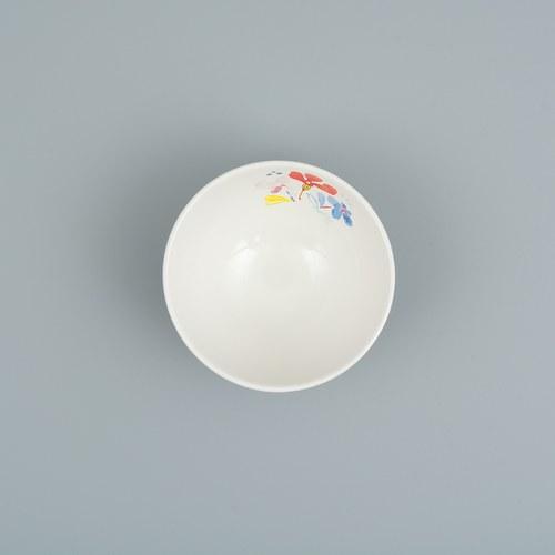 荷蘭FloraCastle 淡雅民族風圖紋陶碗 (直徑11公分)