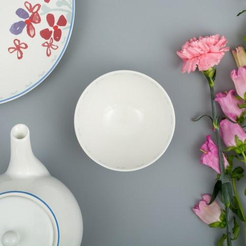 荷蘭FloraCastle 田野紅花叢圖紋陶碗 (直徑13公分)