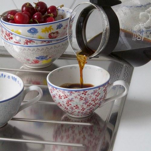 荷蘭FloraCastle 多色花束圖紋陶碗 (直徑13公分)