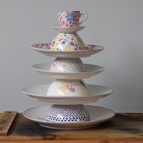 荷蘭FloraCastle 繽紛花朵圖紋陶碗 (直徑13公分)