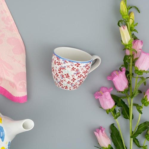 荷蘭FloraCastle 田野紅花叢圖紋咖啡杯 (250毫升)