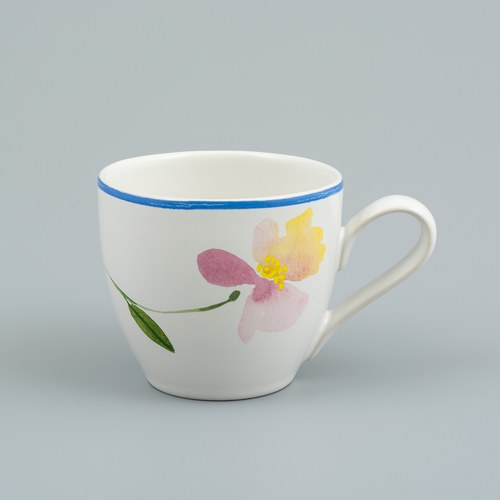 荷蘭FloraCastle 粉晶色飄香花圖紋咖啡杯 (250毫升)