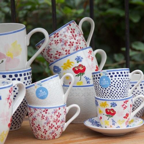 荷蘭FloraCastle 淡雅民族風圖紋咖啡杯 (250毫升)