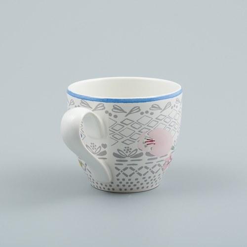 荷蘭FloraCastle 多色花束圖紋咖啡杯 (250毫升)
